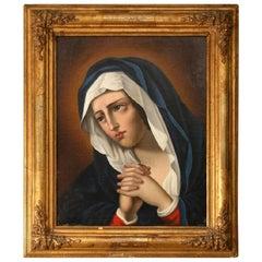 19th Century Oil Painting 'Madonna at Prayer'