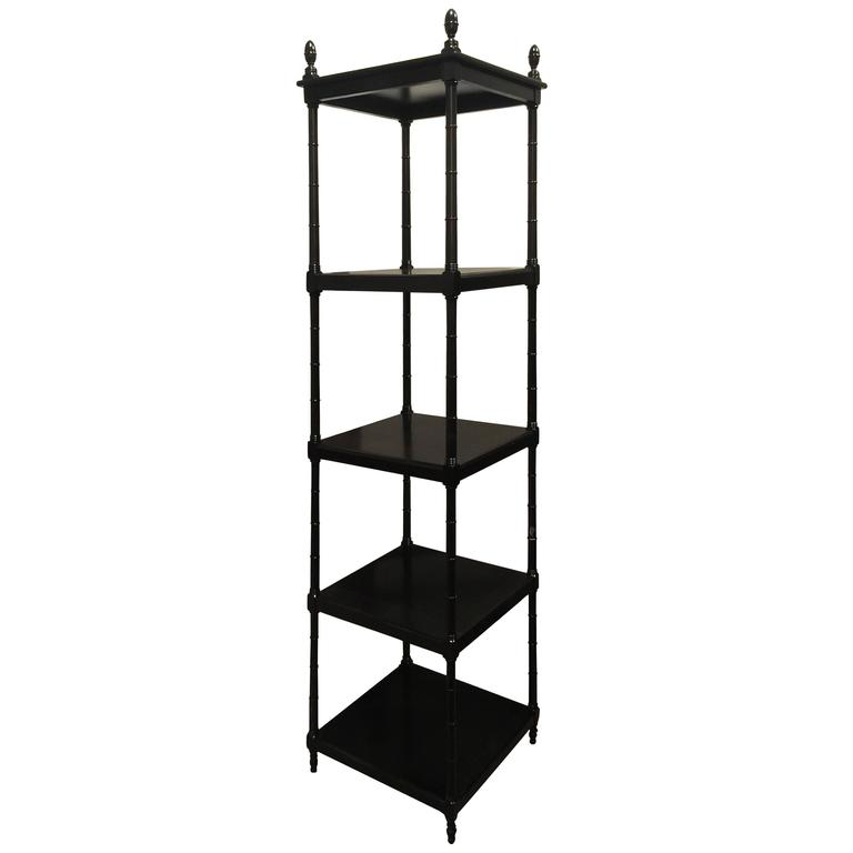 Regency style ebonized bamboo motif tag re for sale at 1stdibs - Etagere cases carrees ...