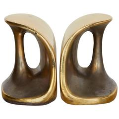 Ben Seibel for Jenfredware Brass Handle Bookends