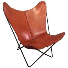 Leather Butterfly Chair by Jorge Ferrari-Hardoy for Knoll