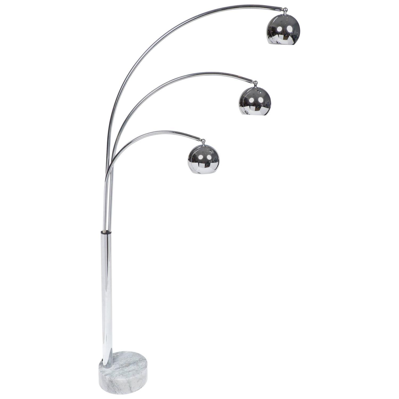 Italian Mid Century Modern Chrome Guzzini Floor Lamp For