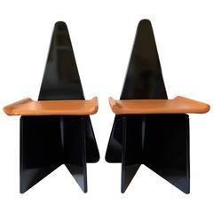 Rare Pair of Claudio Salocchi Chairs