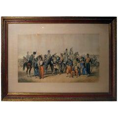 Lithograph Print Signed R. de Moraine Crimean War