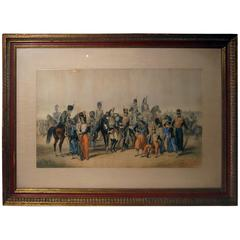 Lithograph Print Signed R. de Moraine Crimean War