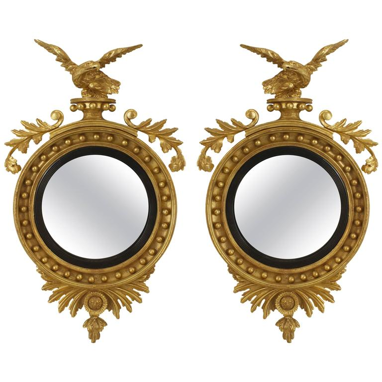 Pair of English Georgian Convex Mirrors