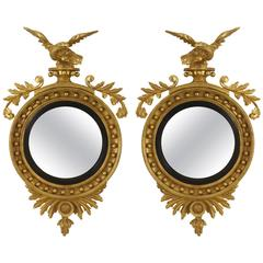 Pair of English Georgian Convex Mirrors