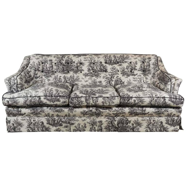 Black And White Toile Sofa For Sale At 1stdibs