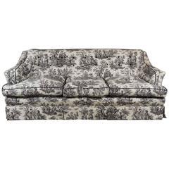 Black and White Toile Sofa