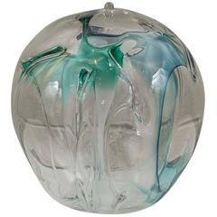 Art Glass Orb by Peter Bramhall