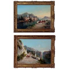 Pair of Signed Oil on Canvas Paintings by W. Dommersen