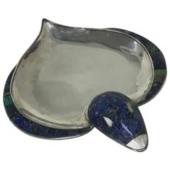"Los Castillo ""Swimming Duck"" Silver Plate Bowl"