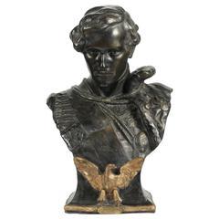 Goldscheider Buste of the Duc De Riechstadt, Sculpture by Oury