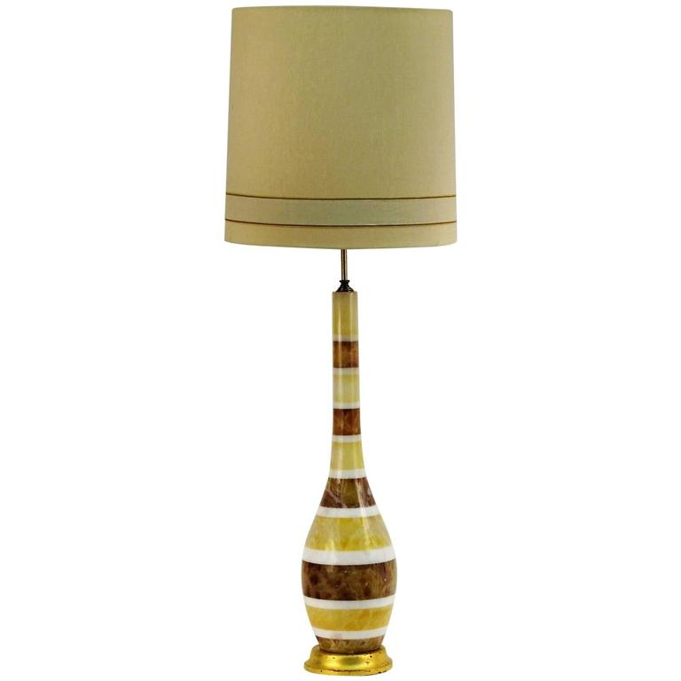 Monumental Italian Layered Marble Table Lamp 1