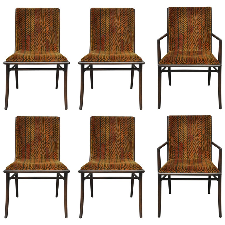 T.H. Robsjohn-Gibbings Dining Chairs, Set of Six