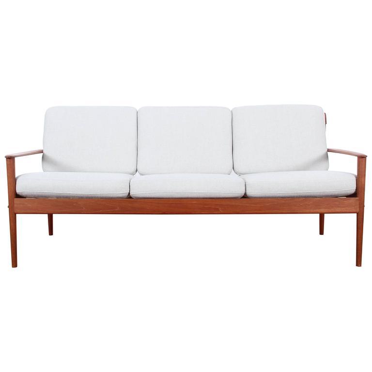 Danish Modern Three-Seat Sofa In Teak Model PJ56/3 By