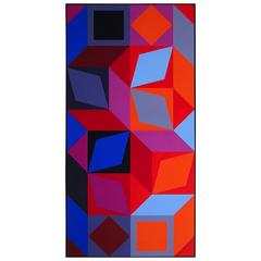 Victor Vasarely Lithography 1960s, Signed