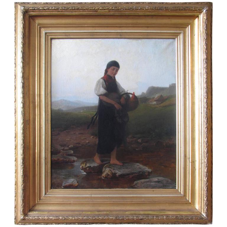 19th Century Painting by Heinrich Ewers For Sale