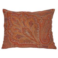 19th Century Paisley Wool Pillow