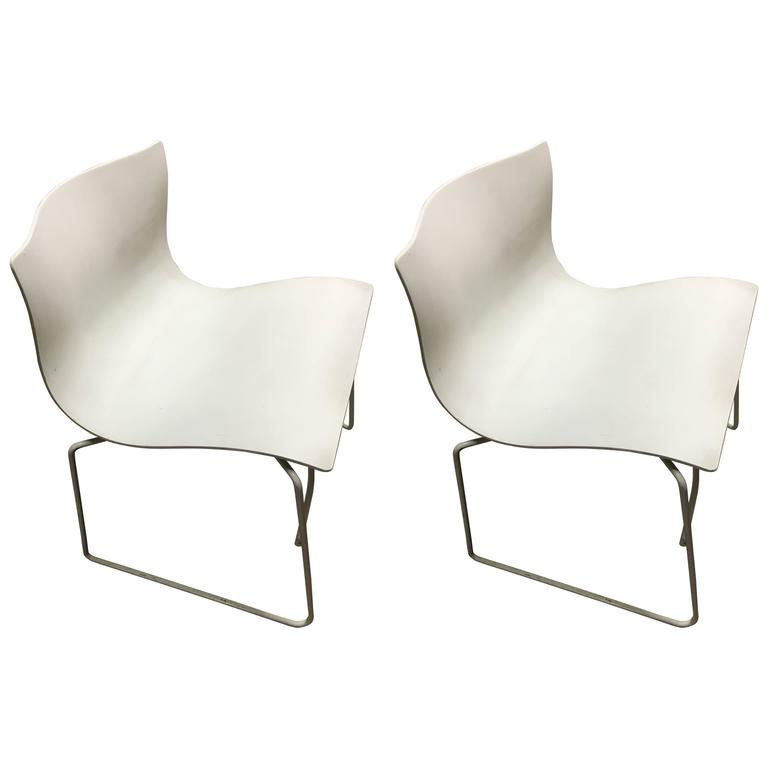 Pair of Knoll Handkerchief Chairs