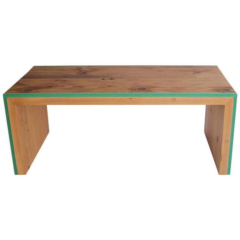 Custom Monster Island Coffee Table or Bench in Reclaimed Fir, Edged in Resin For Sale
