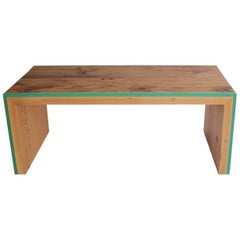 Monster Island Coffee Table or Bench in Reclaimed Fir, Edged in Resin