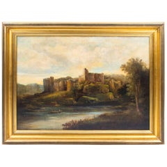 19th Century Painting 'Ruins of Chepstow' Castle