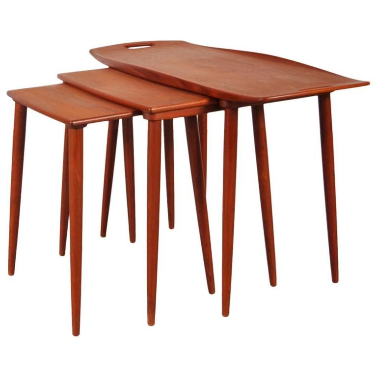 Set of Three Tables by Jens H Quistgaard for Nissen