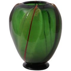 Art Deco Murano Glass Vase by S.A.I.A.R. Ferro Toso