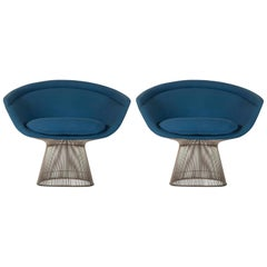 Pair of Warren Platner Lounge Chairs