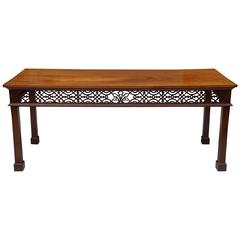 English, 19 Century Large Georgian Style Mahogany Console or Servingtable