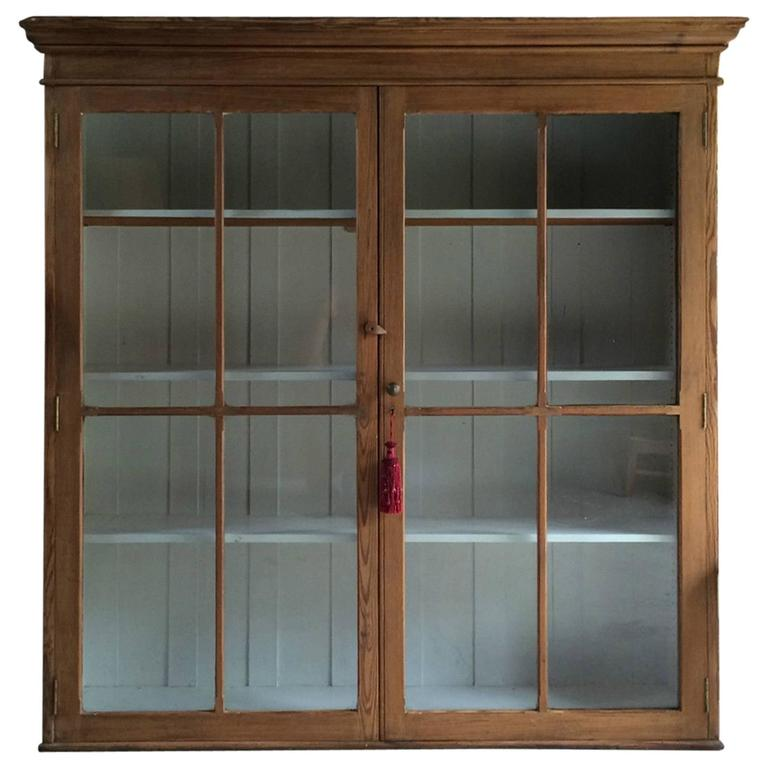 Antique Pine Display Cabinet Vitrine Haberdashery Shop Display For Sale - Antique Pine Display Cabinet Vitrine Haberdashery Shop Display At