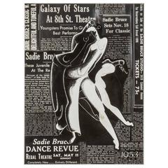 Black and White 1950s Collage of Dancers