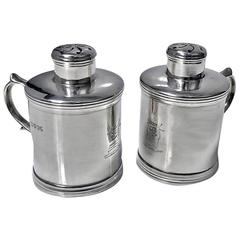 Miniature Silver Tankard Peppers Casters, London, 1885