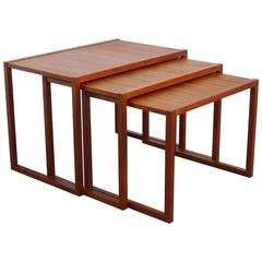 Set of Three Teak Nesting Tables from Denmark, 1960s
