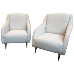 Pair of Mid-Century Armchairs by Arredementi ISA Bergamo