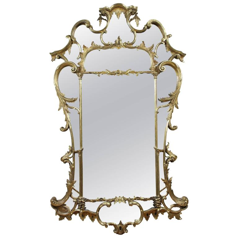 Large George III Giltwood Mirror