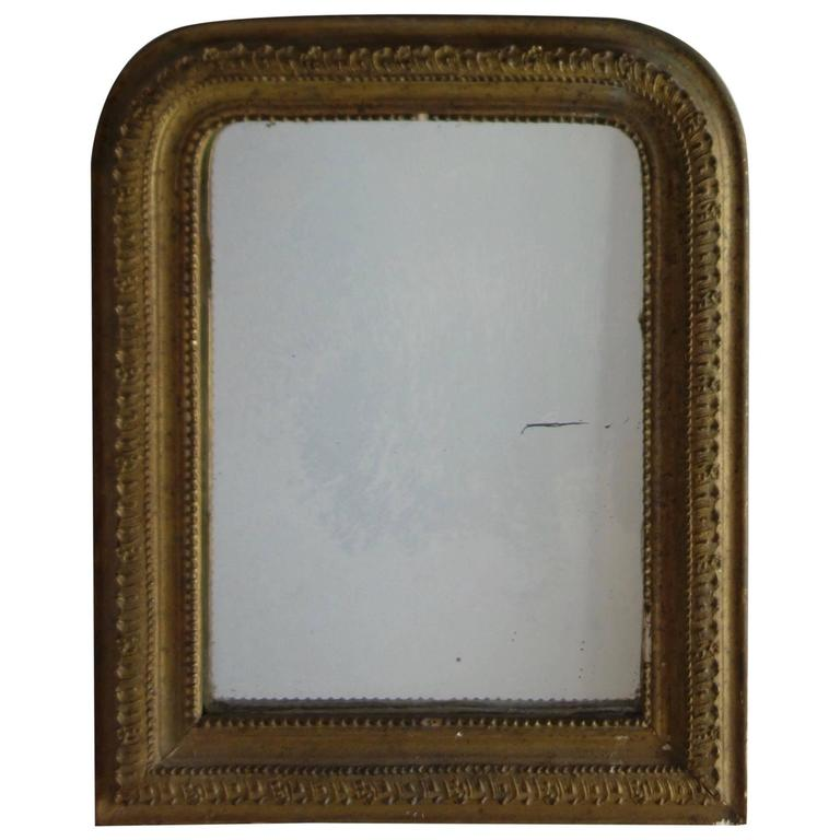Small french gold framed mirror at 1stdibs for Small gold framed mirrors