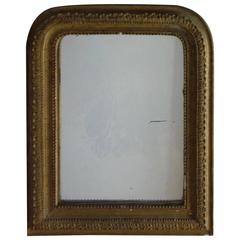 Small French Gold Framed Mirror