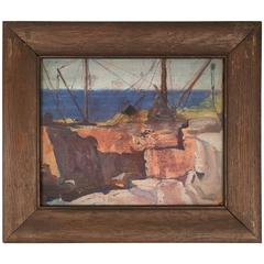 Small Cape Ann Stone Quarry Painting