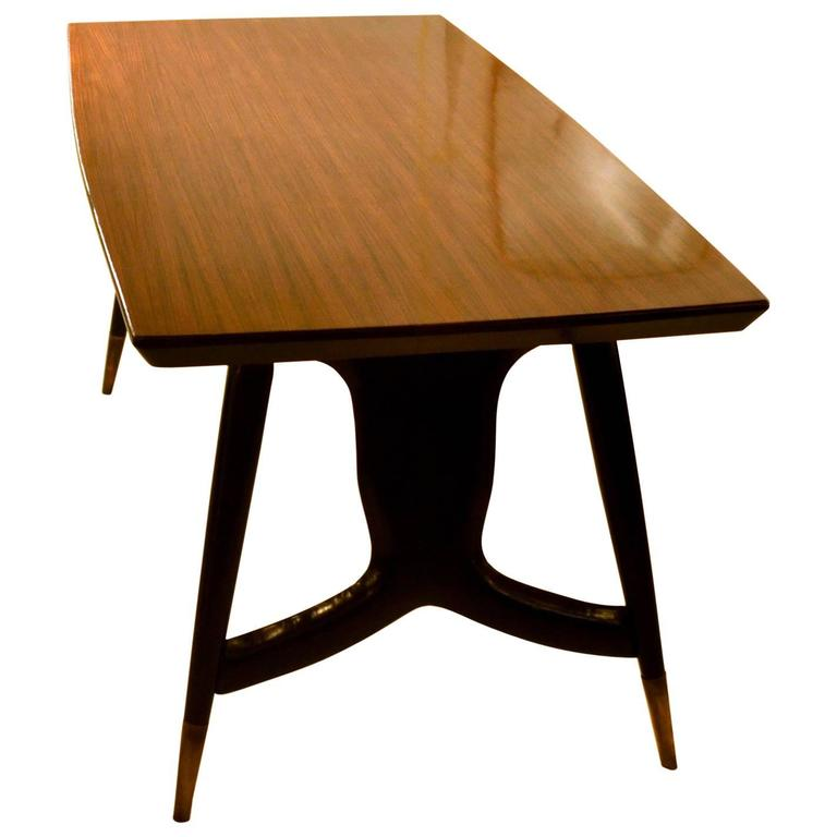 this 1950 39 s italian palisander dining conference table on black legs