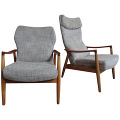 1960 Stunning Pair of Aksel Bender Madsen Bovenkamp Lounge Chairs