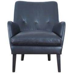 Mid-Century Modern Scandinavian Lounge Chair by Arne Vodder AV 53 New Release