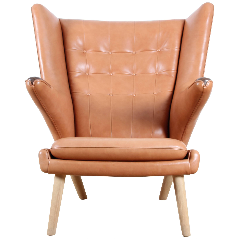 "Mid-Century Modern Danish Lounge Chair ""Papa Bear"" by Hans Wegner"