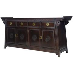 20th Century Chinese Hardwood Sideboard