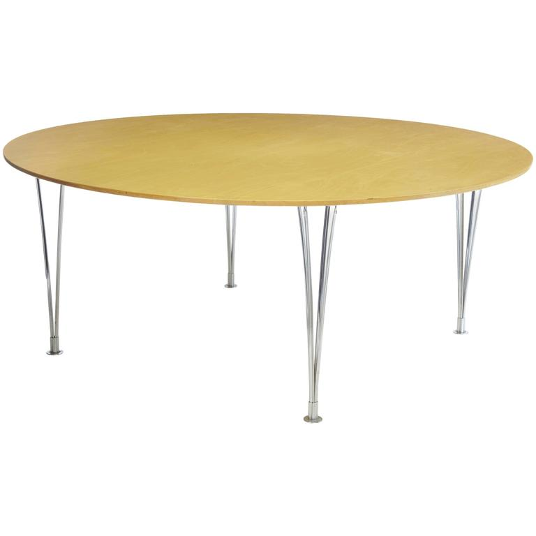 Bruno Mathsson Round Birch Dining Table