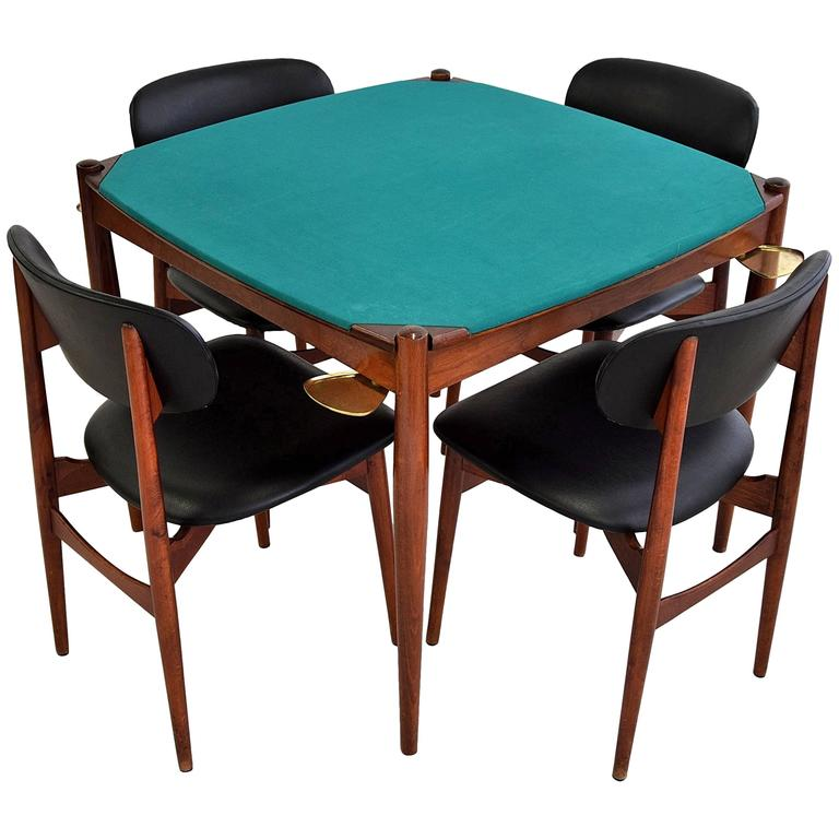 Gio Ponti 1960s Poker Table at 1stdibs