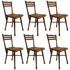 Rare Set of Six Garden Chairs by J. & J. Kohn, Vienna