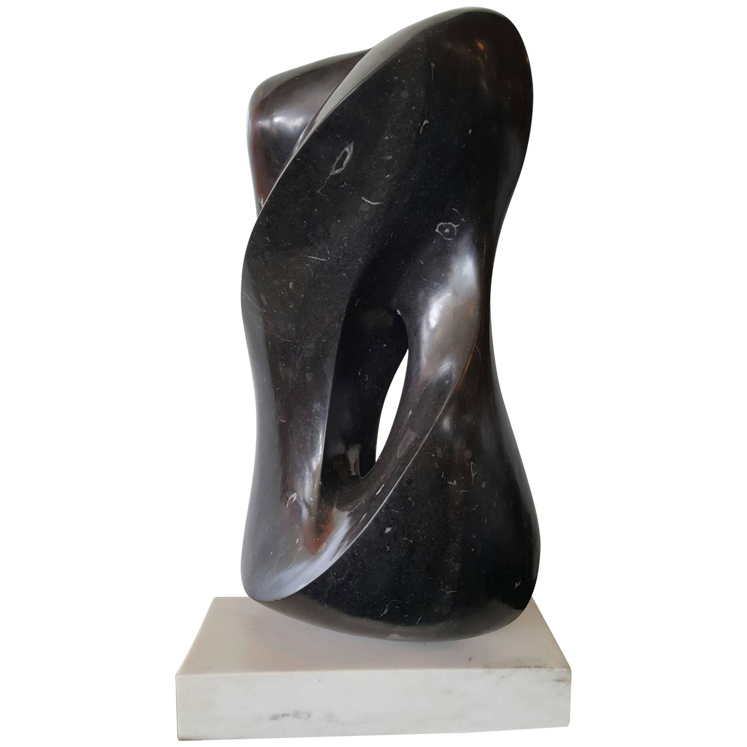 Monumental Modernist Contemporary Marble Sculpture By Dean