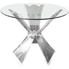 Thick Lucite Contemporary Deco Dining or Center Table Base