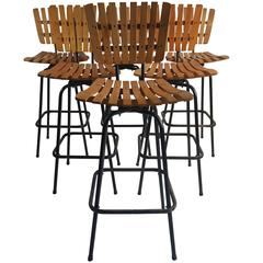 Sculptural Industrial Medical Drafting Stool For Sale At
